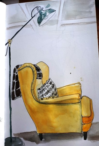 sketching in ikea