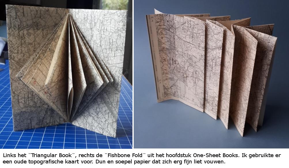 triangular and fishbone book