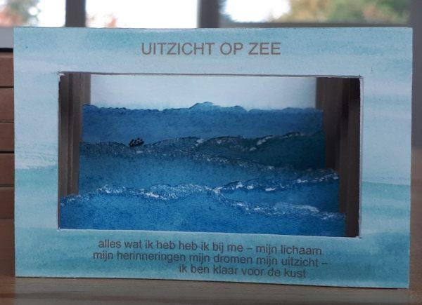 uitzicht op zee miniatuurboekje