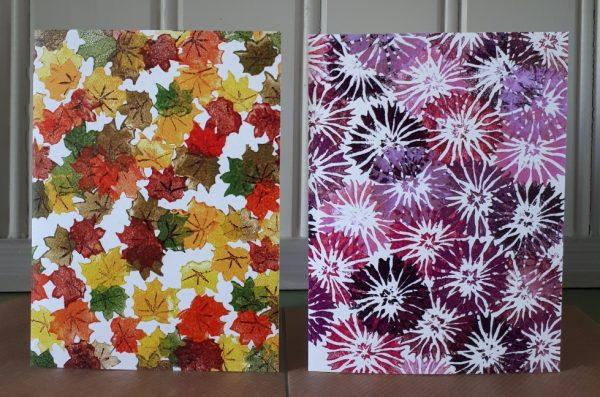 kaarten met herfstmotieven